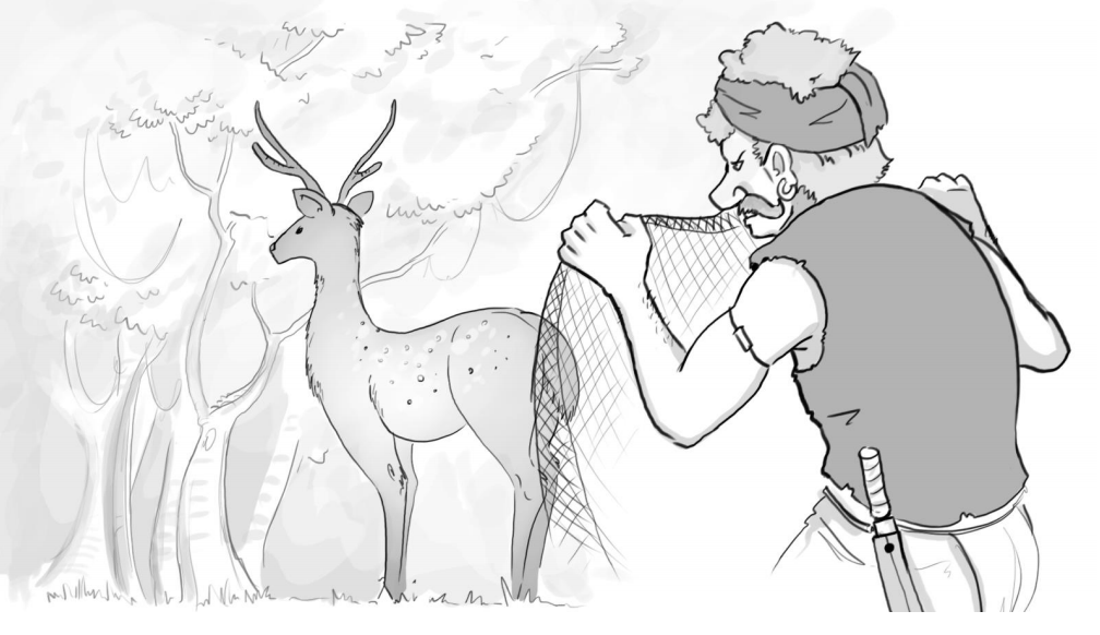 The Hunter and the Deer