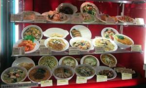 Wax models of food at ChinaTown